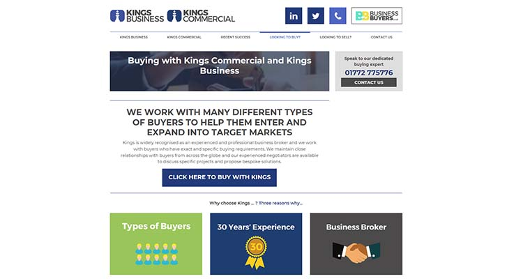 Kings Business & Kings Commercial launch new website